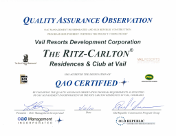 This is what Quality Assurance Observation Certification means to Insurance Carriers