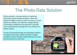 Geedra: Photo Data Management for the A/E/C Industry