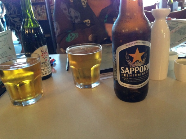 Our beer, crappy as it may be, arrived within 3 minutes of being seated