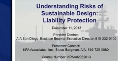 Understanding the Risks of Sustainable Design – Liability Protection in California