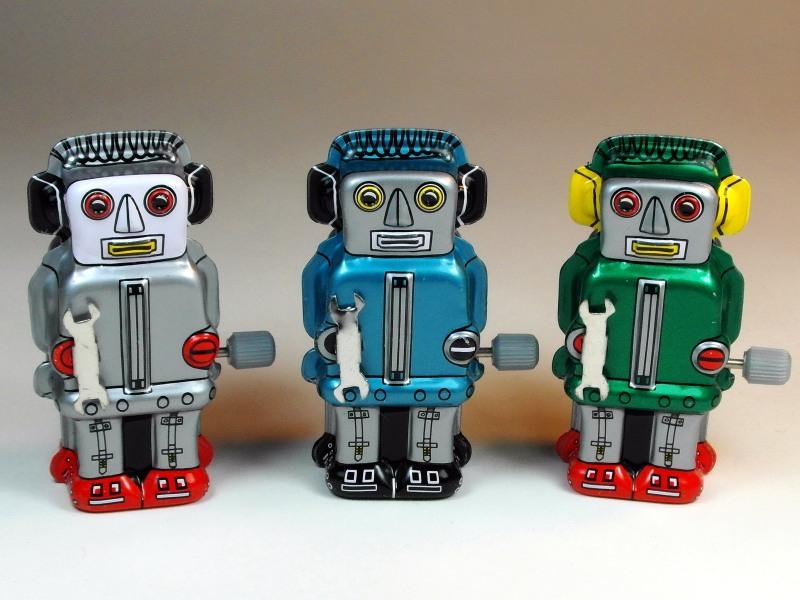 Sanko Seisakusyo (三幸製作所) – Tin Wind Up – Tiny Zoomer Robots – Front