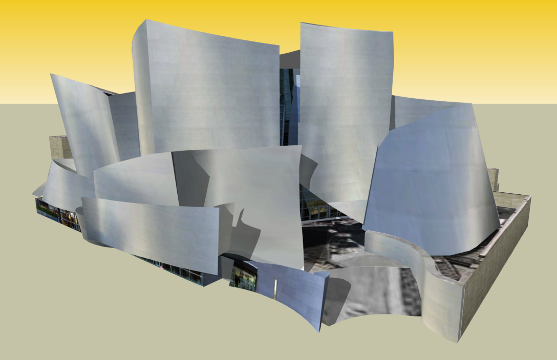 Disney Hall SketchUp