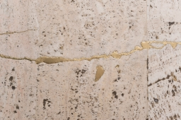 Artist repairs concrete cracks with gold as part of new project